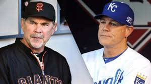 World Series managers (and former MLB catchers) Bruce Bochy & Ned Yost